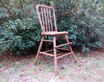 primitive high chair etsy