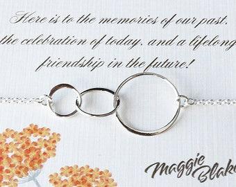 Best friend necklace friendship necklace best friends best friend gift three friends necklace three friendship necklace friend poem
