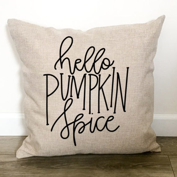 Hello Pumpkin Spice Throw Pillow