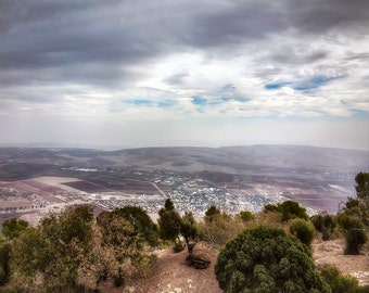 Israel Photography, Mount Tabor View, Mount of Transfiguration, Jezreel Valley, Fine Art Photography, Large Wall Art