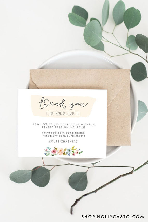 items similar to instant business thank you cards