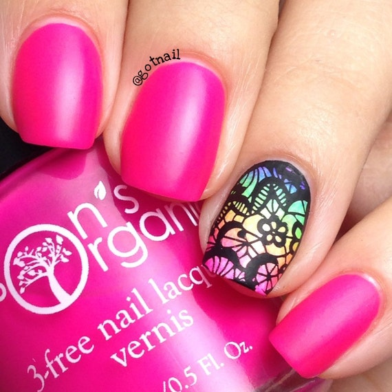 Irresistible , 5 Free MATTE Neon Bright Pink Nail Polish , Glow,in,the,Dark  , Vegan , You Are collection