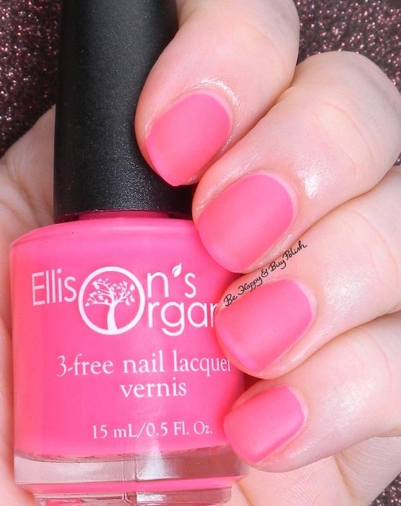 MATTE Neon Pink Nail Polish Glow in the Dark Nail Polish | Etsy