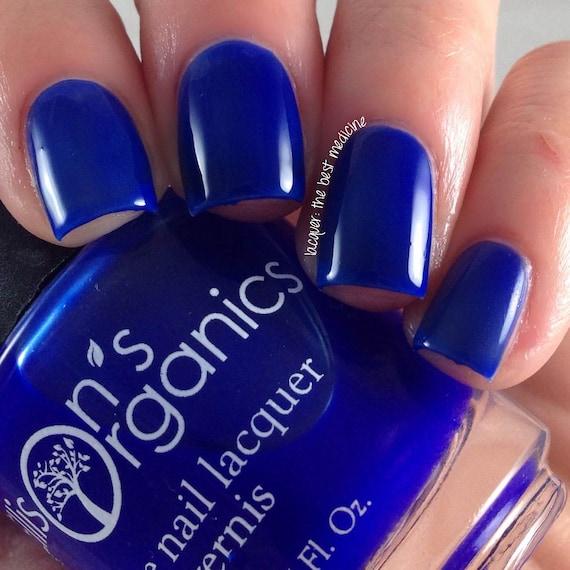 Blue Nail Polish Blue Crelly Nail Polish Nail Art Vegan | Etsy