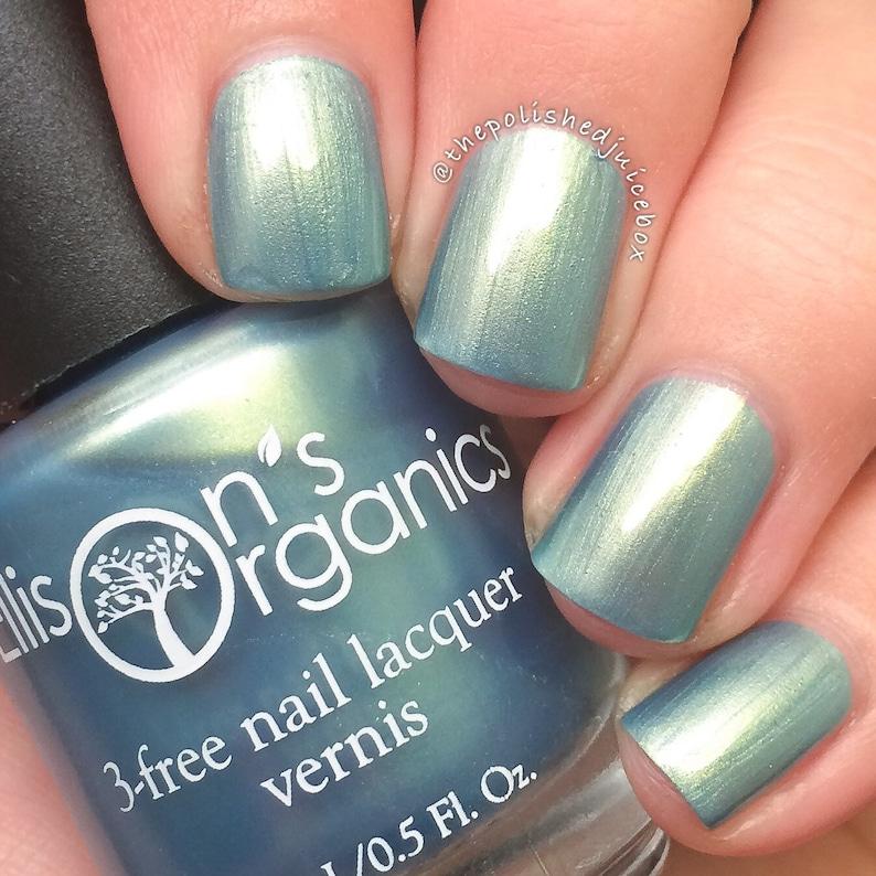 Light Blue Nail Polish Shimmer Nail Polish Vegan Nail Etsy