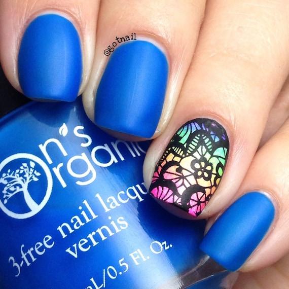 Enchanting 5 Free MATTE Neon Dark Blue Nail Polish Glow in | Etsy