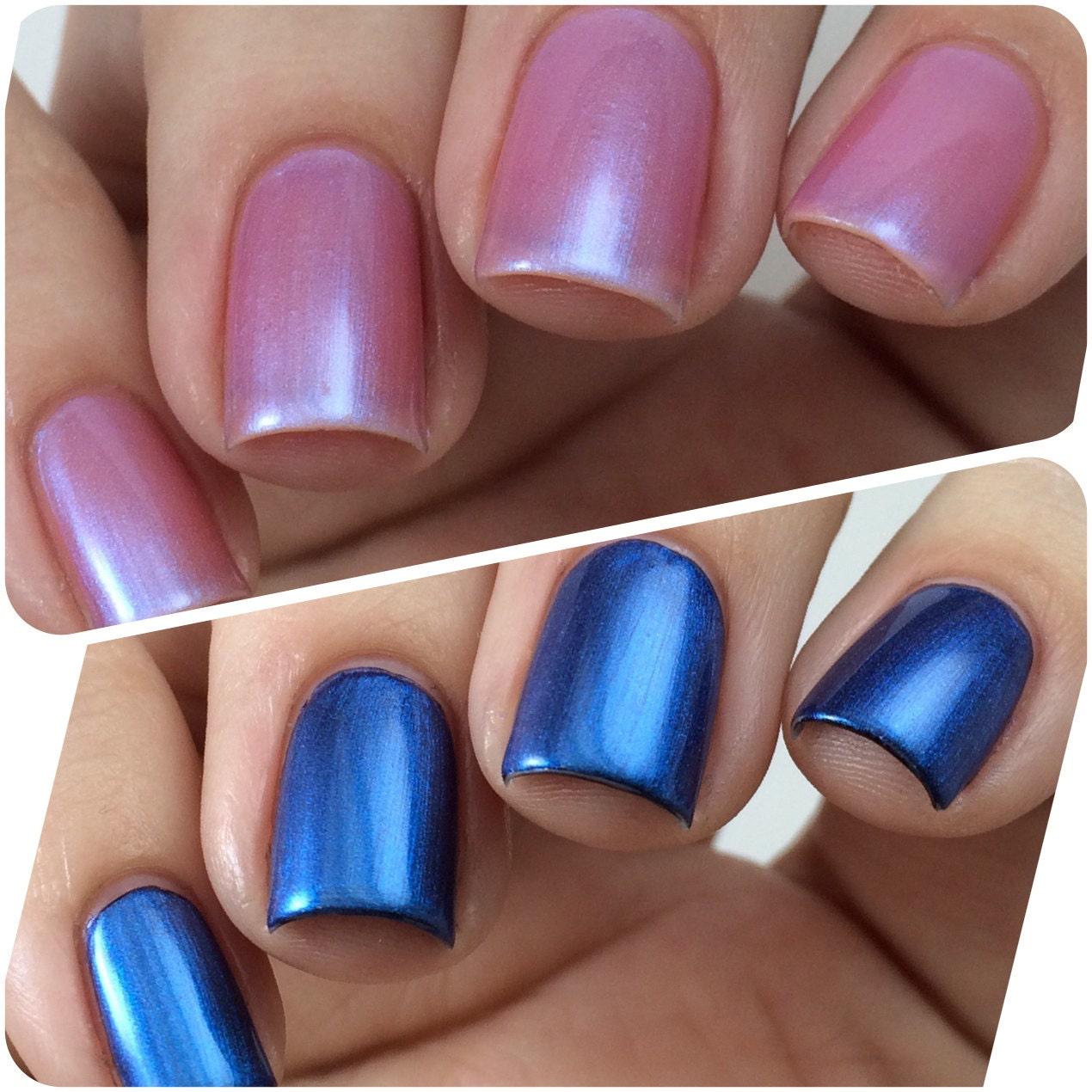 Blue Nail Varnish Uk: Color Changing Nail Polish Pink Or Blue Nail Polish Nail