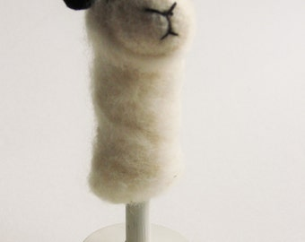 Felted Sheep Finger Puppet