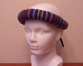 Nativity Shepherd   Innkeeper Headdress Roll   Blue Stripes With Or W/o  Scarf