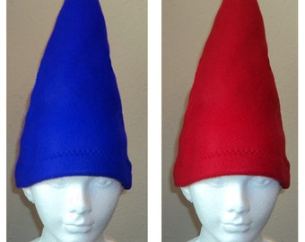 88359bc620c One Gnome Hat Your choice of red or blue - Halloween Costume Dress up Garden  Party Dunce cap