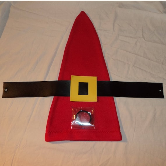 2fd5b893416 Set Red or Blue Gnome Hat and Belt for Garden Gnome Costume
