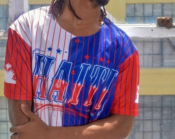 Haiti Flag N'ap Boule Baseball Jersey