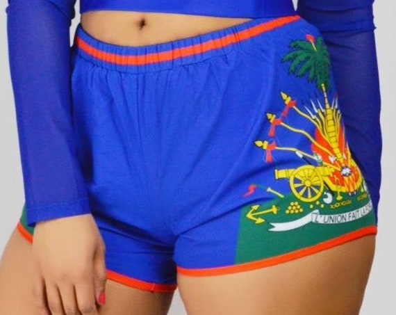 Haiti Coat of Arms Shorts (Shorts Only!) Sexy Shorts Beach Shorts