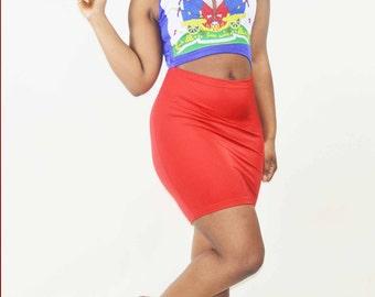 Custom Haiti Flag Maxi Skirt Haitian Flag Day Outfit Skirt Etsy