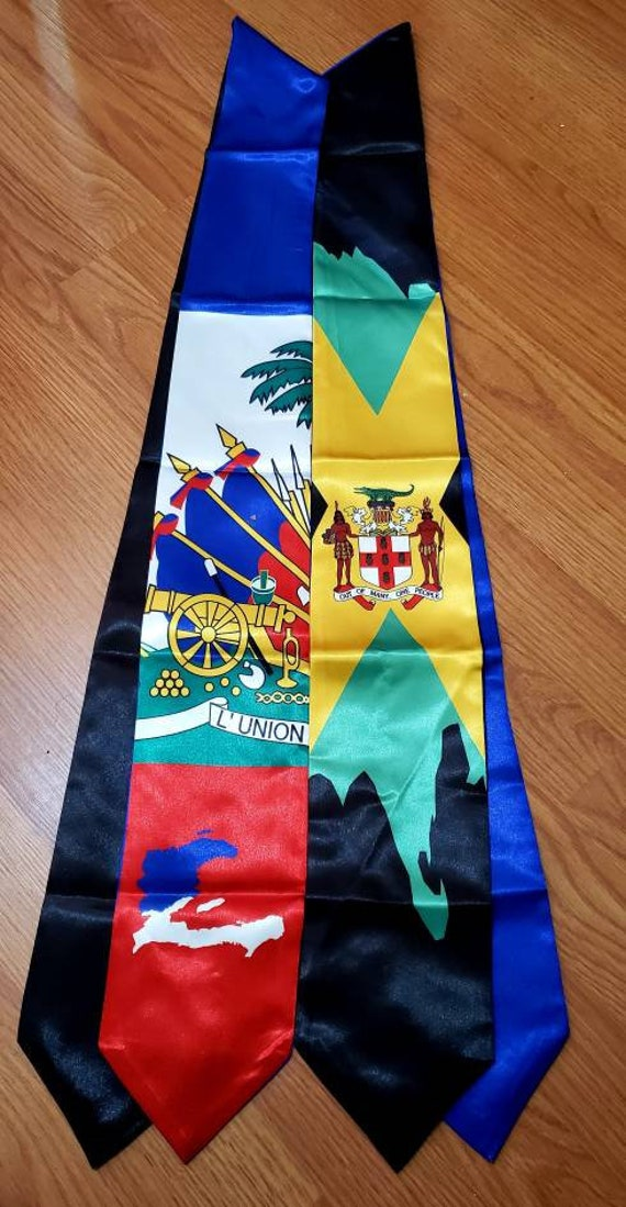 Haiti/Jamaica  Graduation stoles-Sash