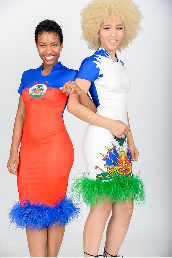 Haitian flag dress