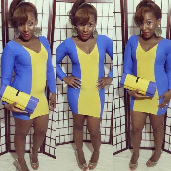 Barbados  Flag Dress Long sleeved Dress Bodycon Club Dress Carnival Dress