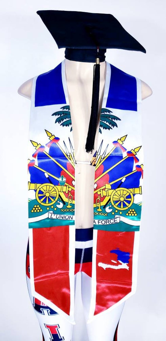 Haiti graduation stole/sash 2 styles to choose from