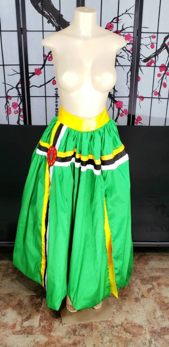 Dominica Flag Custom Maxi Skirt