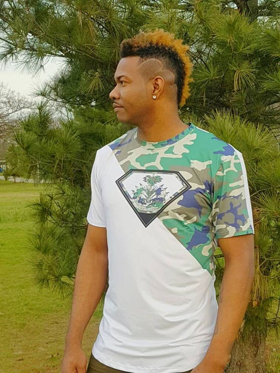 3d2b8ce544cd Men s Haitian Army Fatigue T-shirt