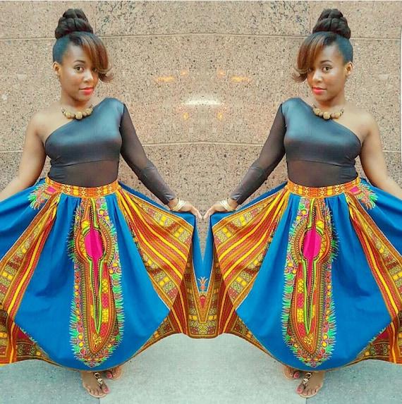 Custom African Print Women Maxi Skirt Ankara Skirt