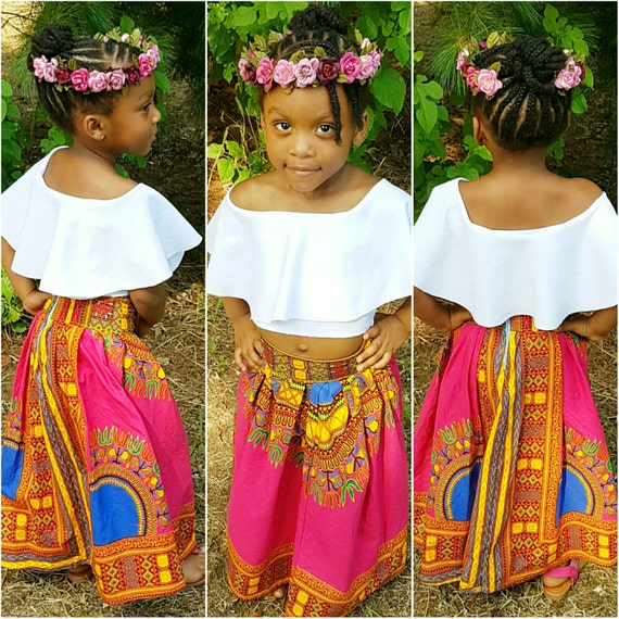 African Print Childs Skirt  Ankara Skirt Maxi Childs Skirt