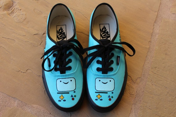 374bb7a918 Hand Painted Shoes BMO Adventure Time