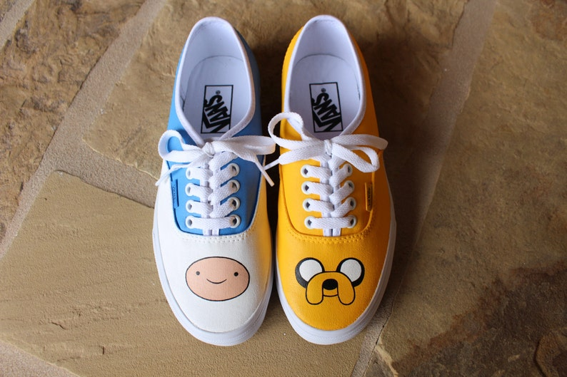 a5e53cbe34 Hand Painted Shoes Finn and Jake