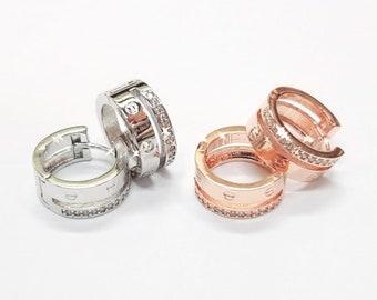 828b1712119 Famous Design Luxury earrings inspired Screw style 925 Silver post earrings  Screw earrings