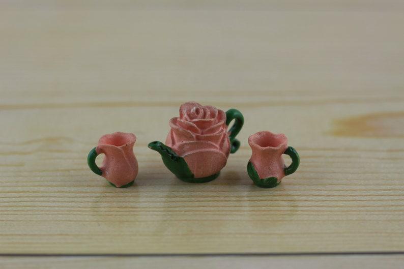 Fairy Garden Teapot Set of 3  gnome pixie troll succulent image 0