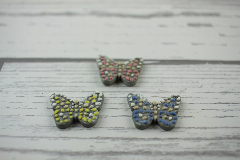 Fairy Garden Miniature Butterfly Stepping Stones Set of 3 image 0