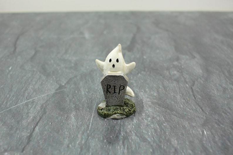 Fairy Garden Miniature Halloween Ghost with Tombstone image 0