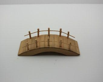 Fairy Garden Miniature Wood Bridge succulent terrarium dish fantasy faerie