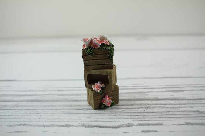 Fairy Garden Miniature Flower Stacked Crates image 0