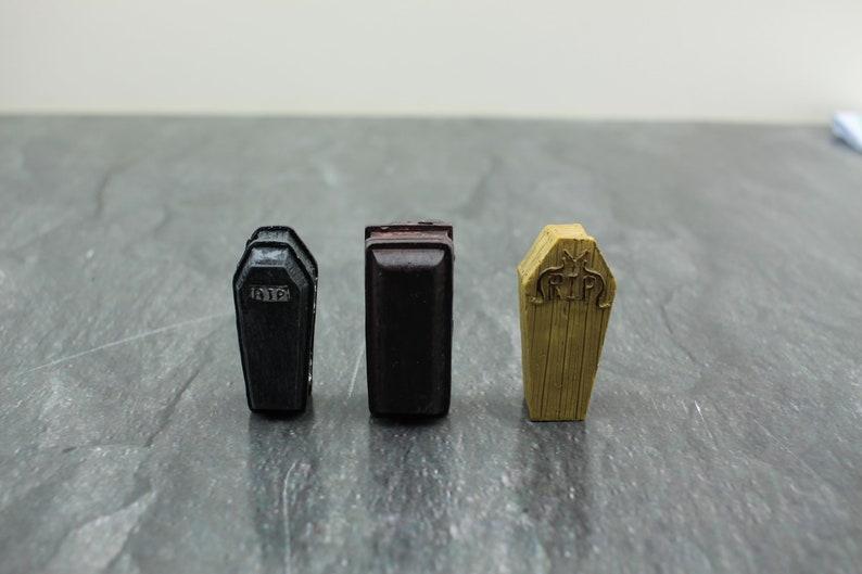 Fairy Garden Miniature Halloween Coffins image 0