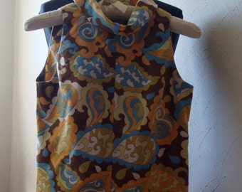 Paisley Cowl-Neck Jumpsuit from the Sixties