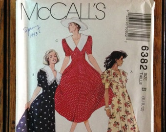 McCall's Dress Pattern from the '90s, Sizes 8-10-12