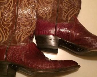 7b283c5928009 Lizard justin boots | Etsy