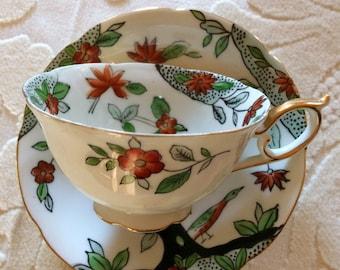 Vintage Norcrest Floral Tea cup and Saucer