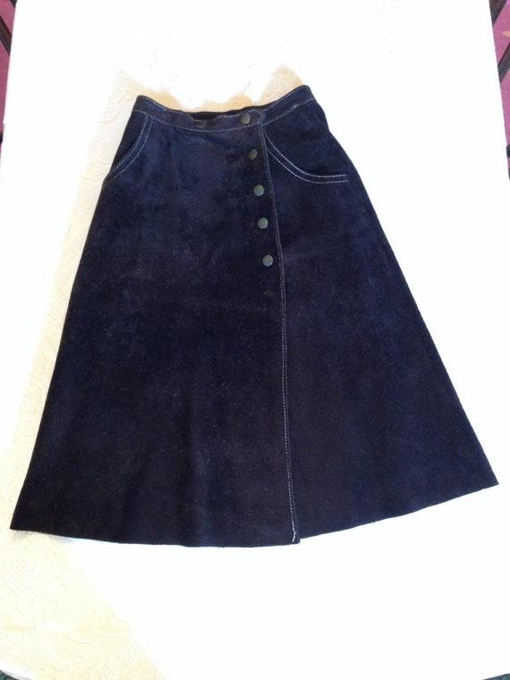 Seventies Brown Suede Skirt