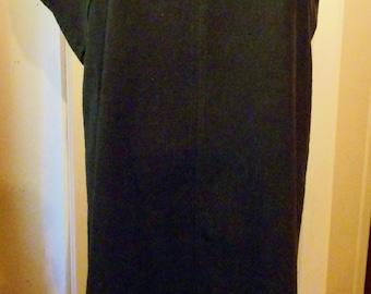 "1980's Designer Dress, Black Sheath with Style, 36"" Bust"