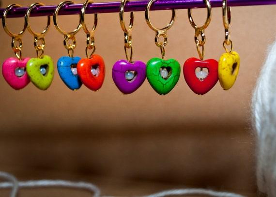 Victorian Heart Stitch Markers