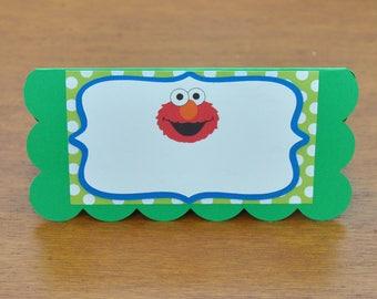 Sesame Street Food Labels Set of 6, Sesame Street Party Food Labels