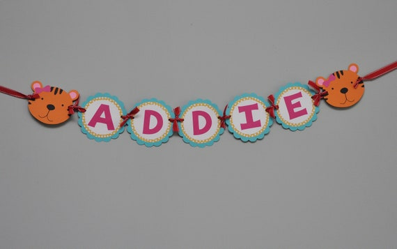 Lions Tigers And Bears Banner Animals Birthday Name Banner Etsy