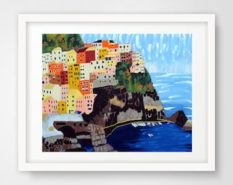 PRINT - Title: Shine - Cinque Terre, Italy by Nicole Werner Stevens