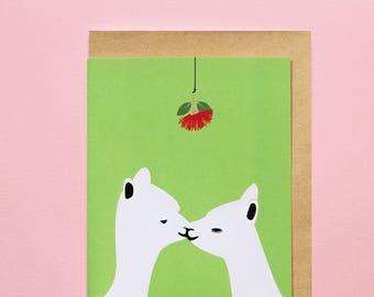 Kissings - Greeting Card