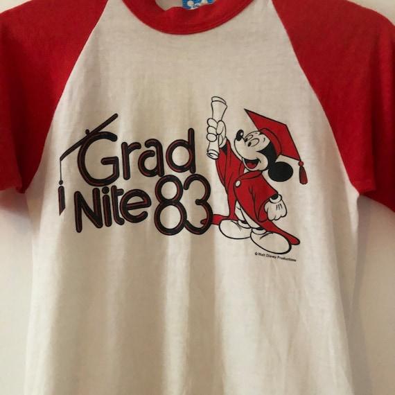 Vintage 1983 Mickey Mouse Grad Nite Baseball Ringe