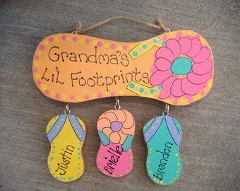 dbf083fc95af Handpainted Personalized Wood Flip Flop Sign