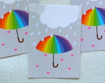 """Parachagrin"" card - Valentines Day gift"