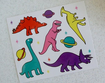 "Tattoos ""Dinos"" - birthday gift favor gift guest gift boy birthday activity gift surprise bag child"